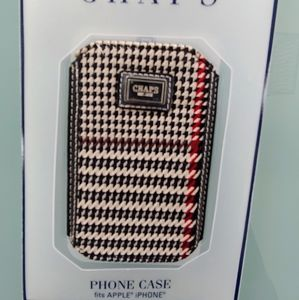 NWT Chaps Apple iphone case cloth tailored fit